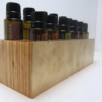 Gold Front Aromatherapy Holder~ Essential Oil Rack~Oil Faceted~Gem~Therapeutic Grade Oil Rack~ Oil Organizer~ Faceted~Natural