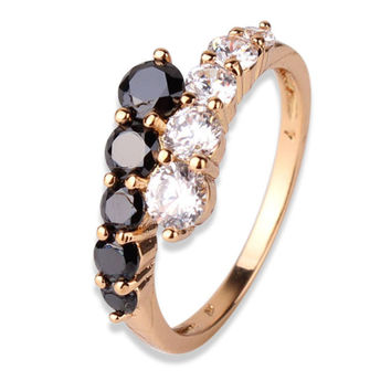 Two Colors Midi Finger Ring