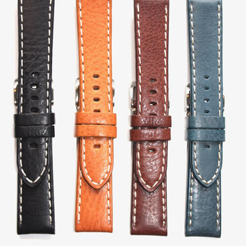 Toscana Heavy Pad Italian Calf with Contrast Stitching Watch Strap