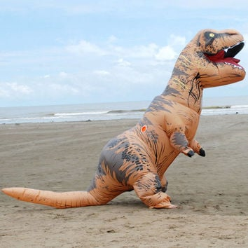 T-REX Inflatable dinosaur costume for adults Halloween costume Fan Operated disfraces adultos jumpsuit