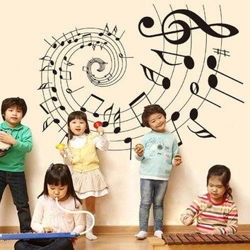 Removable Bedroom Decoration Music Note Wall Stickers