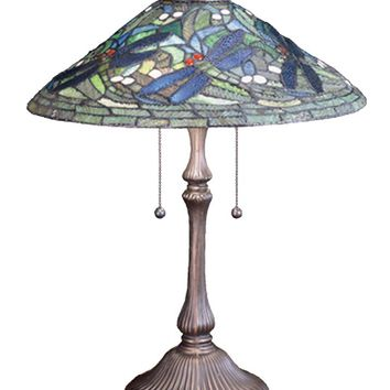 "24""H Tiffany Flying Dragonfly Table Lamp"