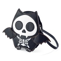 Skeleton Bat Crossbody Handbag