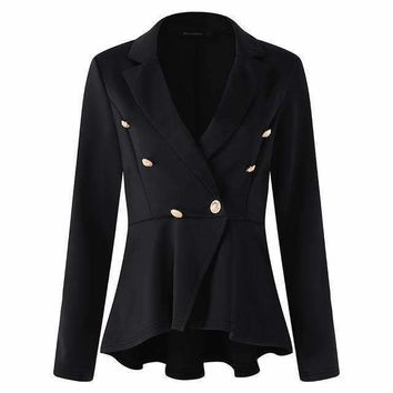 Women blazers Jackets Long Sleeve Turn Down Collar Wear To Work Blazer Jacket Plus Size S 5Xl