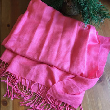 Pashmina Hot Pink Scarf Ladies Scarf Accessory Ladies Fasion