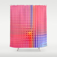 Pink Mosaic Shower Curtain by Christine baessler