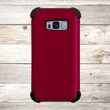 Solid Color Burgundy for Apple iPhone, Samsung Galaxy, and Google Pixel