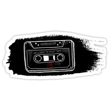 '13 reasons why tape' Sticker by TessaHuges