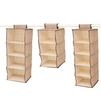Section Shelves Hanging Wardrobe Shoe Garment Storage Clothes Storage bag drop shipping #XG30