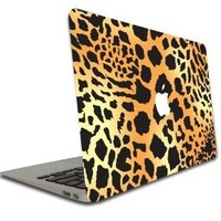 MacBook Air or Macbook Pro (13 Inch) Vinyl, Removable Skin - Leopard Print Pattern