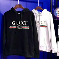 Gucci Fashion Print Long Sleeve Top Hooded Sweater
