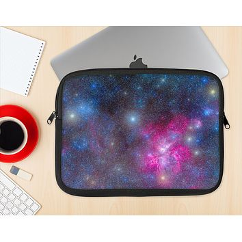 The Pink & Blue Galaxy Ink-Fuzed NeoPrene MacBook Laptop Sleeve