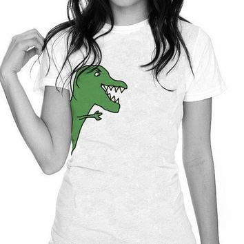Mr Green The Dinosaur T Rex Original Design by trulysanctuary