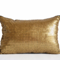 Gold Sequin Throw Pillow Covers Gold Cushion Gold Navy Pillow