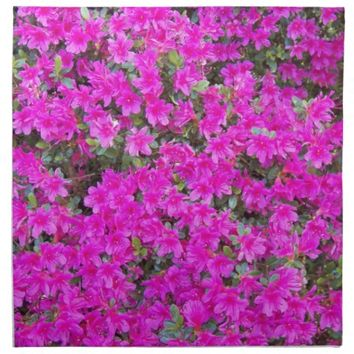 Pink Rhododendron Blossoms Floral Photo Cloth Napkin