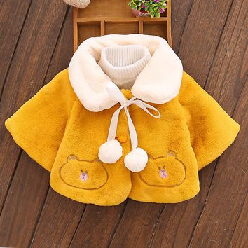 Baby Girl's jacket Clothes Princess Velour Fabric Newborn Coat Infant Cute Autumn Bat wing Long sleeves Outerwear