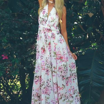 Bouquet Beauty Floral Maxi White