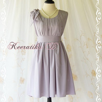 A Party Dress One Shoulder Layered Bow Dress Sage White Gray Dress Prom Party Dress Simple Sundress Bridesmaid Cocktail Dress Custom Made