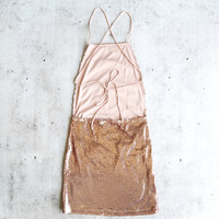 motel - muse open back sequin bodycon dress