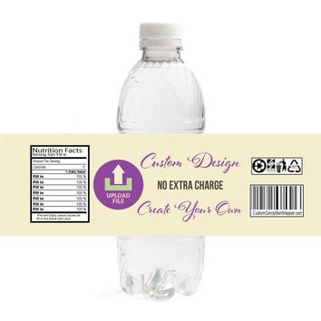 Custom Bar or Bat Mitzvah Water Bottle Labels