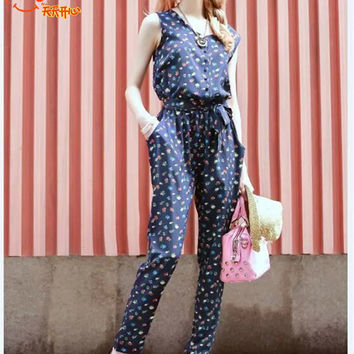 Sleeveless Jumpsuit - Vintage pattern  = 4777461508