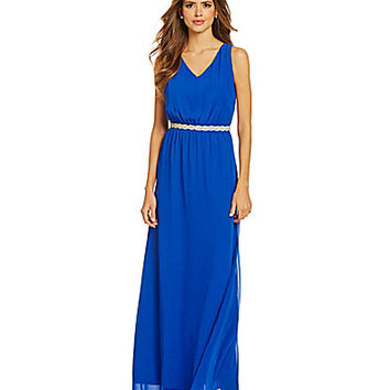 Gianni Bini Trina Jewel Embellished Maxi Dress - Cobalt
