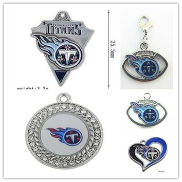 Mix 5 Styles Enamel Football Team Tennessee Titans Dangle Charms Pendant For DIY Bracelet&Necklace Earrings Jewelry 20pcs/lot