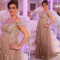 Elegant Maternity Evening Dress