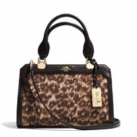 MADISON MINI LEXINGTON CARRYALL IN OCELOT PRINT FABRIC