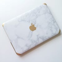Marble and Gold with Apple Logo