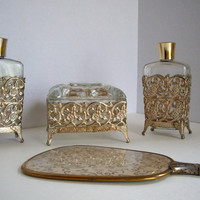 Vintage art deco vaniety set 1940