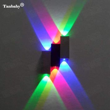 Tanbaby Modern 6W(6*1W) led wall lamps Aluminum Up/Down AC85-265V Wall Sconce Indoor Light Energy Saving Fixture light