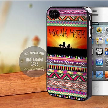 Hakuna Matata Aztec Pattern case for iPhone 5,5s,5c,4,4s,6,6+/iPod 4th 5th/Samsung Galaxy S3,S4,S5/Note 2,3/HTC One/LG Nexus
