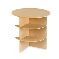 """Decorative 24"""" Round Table with Shelves"""