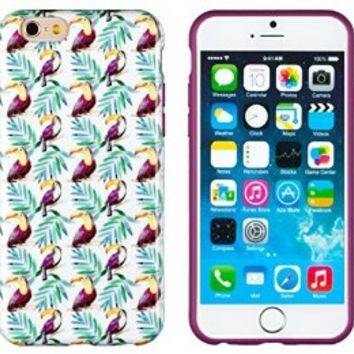"""iPhone 6 Case, DandyCase PERFECT PATTERN *No Chip/No Peel* Flexible Slim Case Cover for Apple iPhone 6 (4.7"""" screen) - LIFETIME WARRANTY [Toucan Jungle]"""