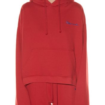 Hooded logo-print sweatshirt | Vetements | MATCHESFASHION.COM US