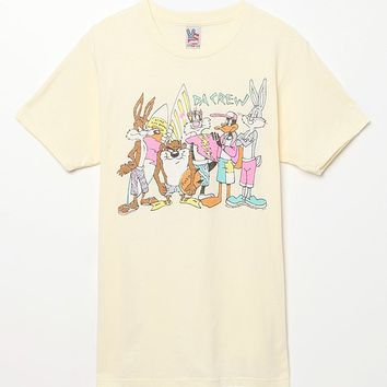 Junk Food Looney Tunes Da Crew T-Shirt - Mens Tee - Yellow