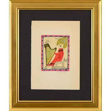Harp - Limited Edition Artist Proof Lithograph on Paper by Judith Bledsoe (1938-2013)