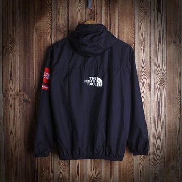 Fashion Unisex Lover's The North Face Sports Coat Windbreaker Black