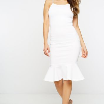 Vilma Mermaid Dress - Ivory