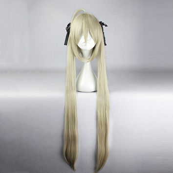 Long Straight Cosplay Wig Synthetic Fiber of High-Temperature Anime Party Costume Hair