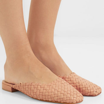 LOQ - Galia woven leather slippers
