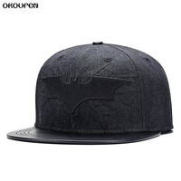 Batman Dark Knight gift Christmas Hot 2018 New Fashion Denim leather Batman Baseball Cap Hats For Men Women Casual Bone Hip Hop Snapback Caps Sun Hat MZ1 AT_71_6