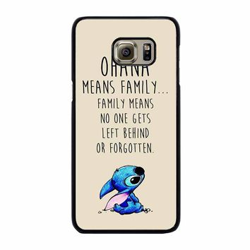 STITCH LILLO OHANA FAMILY QUOTES Samsung Galaxy S6 Edge Plus Case Cover