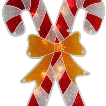 """8"""" Multi-Color Mosaic 8-Point Star Christmas Tree Topper - Clear Lights"""