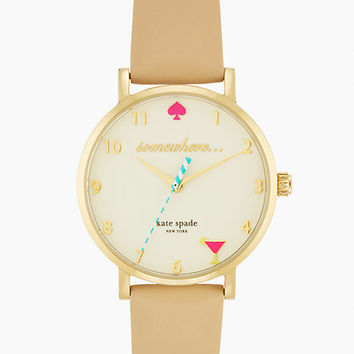 Kate Spade 5 O'clock Metro Watch Gold/Vachetta ONE
