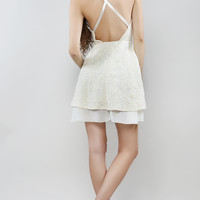 Flower Lace Back Strap Dress