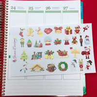 Christmas Assorted Elements Planner Stickers, Fits Erin Condren Life Planner, Filofax, Kiki K, Limelife, Plum Paper