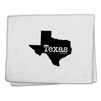 """Texas - United States Shape 11""""x18"""" Dish Fingertip Towel by TooLoud"""