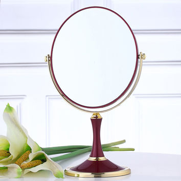 Beauty Makeup Cosmetic 8 Inch 3x Magnification Round Oval Makeup Mirror Dual 2 Sided Normal 3x Magnifying Stand Makeup Mirror